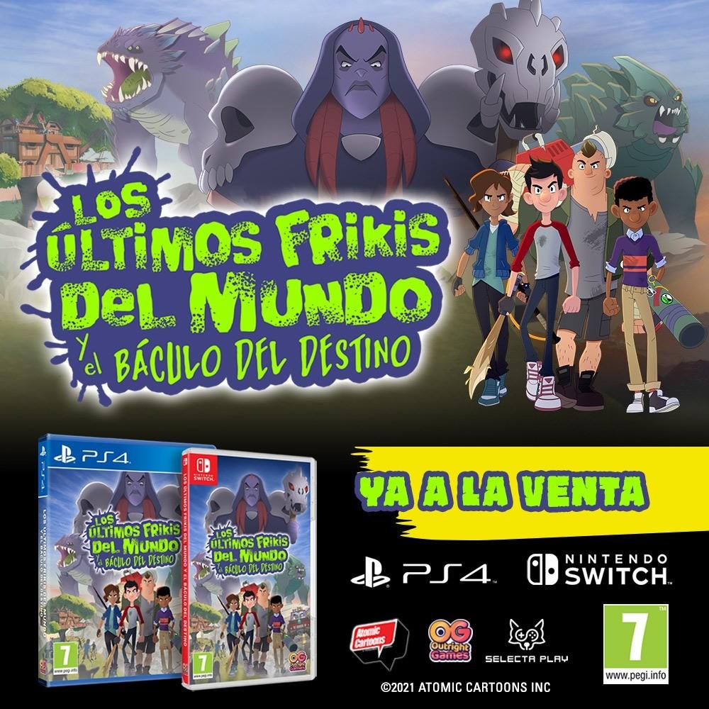 ¡Los frikis nos salvarán! El videojuego Los Últimos Frikis del Mundo y el Báculo del Destino ya está disponible