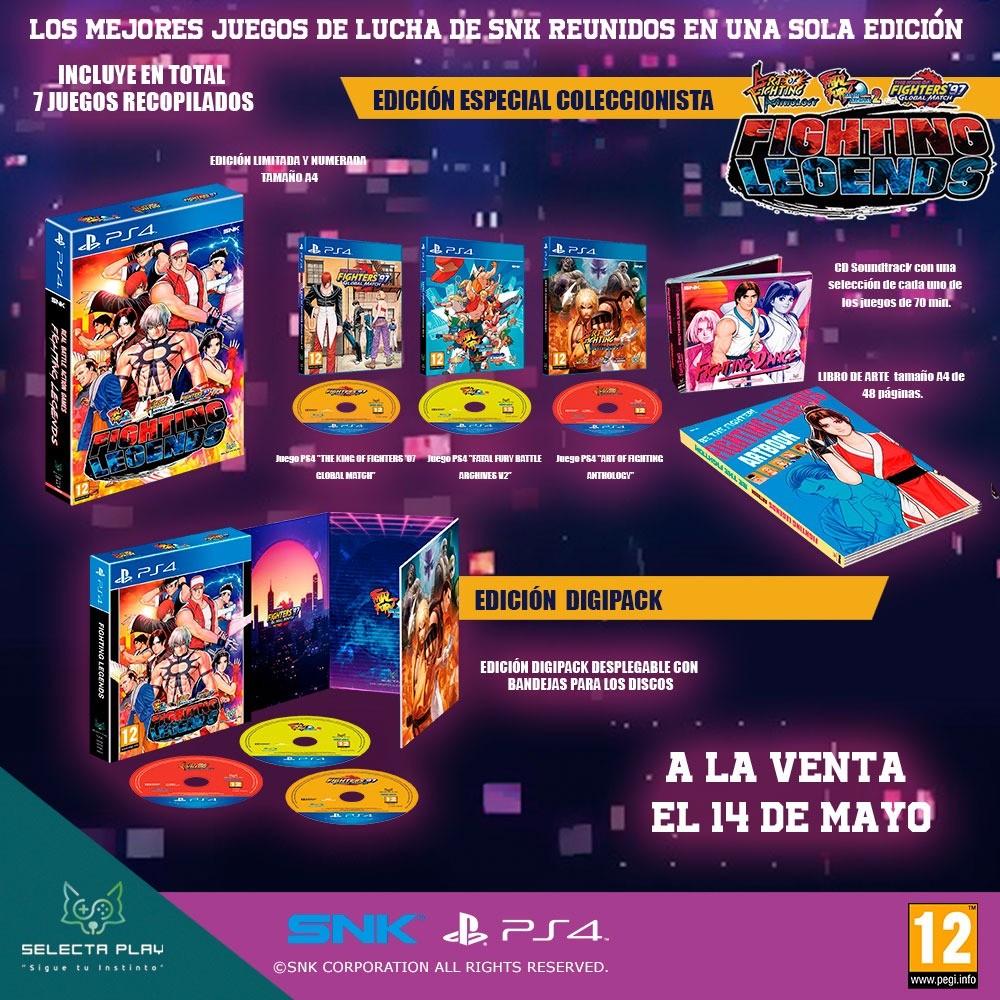 Los legendarios videojuegosde lucha de SNK, disponibles para tu PS4 el 14/05