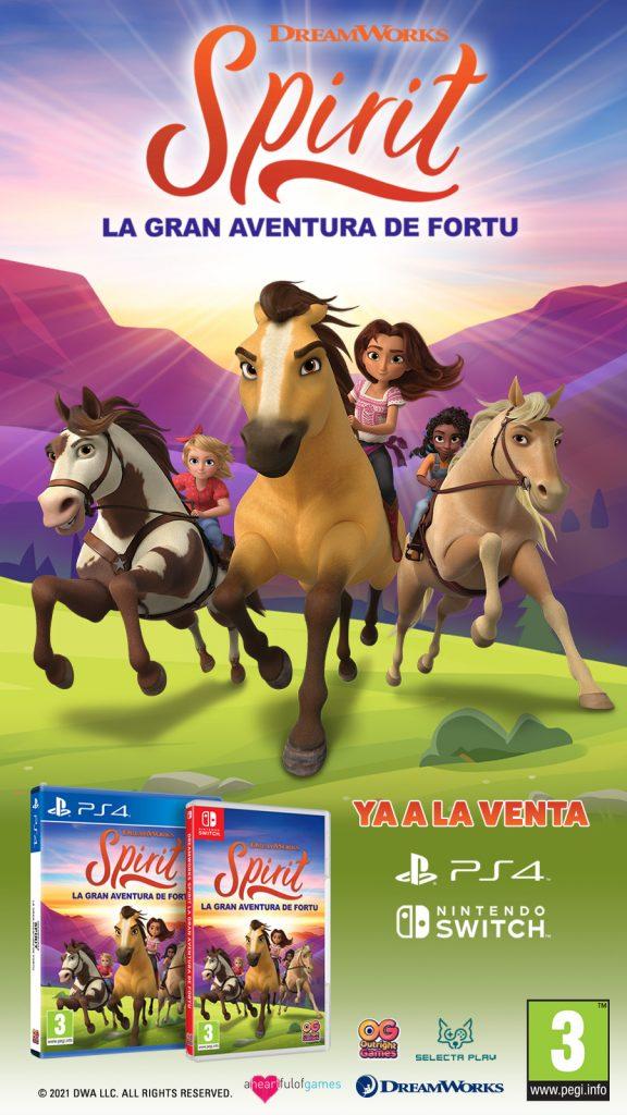 Spirit La Gran Aventura de Fortu, el videojuego de Selecta Play ya disponible para Nintendo Switch y PS4